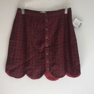 Urban Outfitters Red Scalloped Skirt size 0